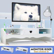 Organizer Shelf Monitors-Accessories Riser-Stand Desktop-Holder Computer-Monitor Storage-Rack