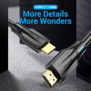 Image 2 - Vention HDMI 2.1 כבל 4K 120Hz 3D גבוהה מהירות 48Gbps HDMI כבל עבור PS4 ספליטר מתג תיבה extender אודיו וידאו 8K HDMI כבל