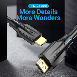 Image 2 - Vention HDMI 2.1 Cable 4K 120Hz 3D High Speed 48Gbps HDMI Cable for PS4 Splitter Switch Box Extender Audio Video 8K HDMI Cable