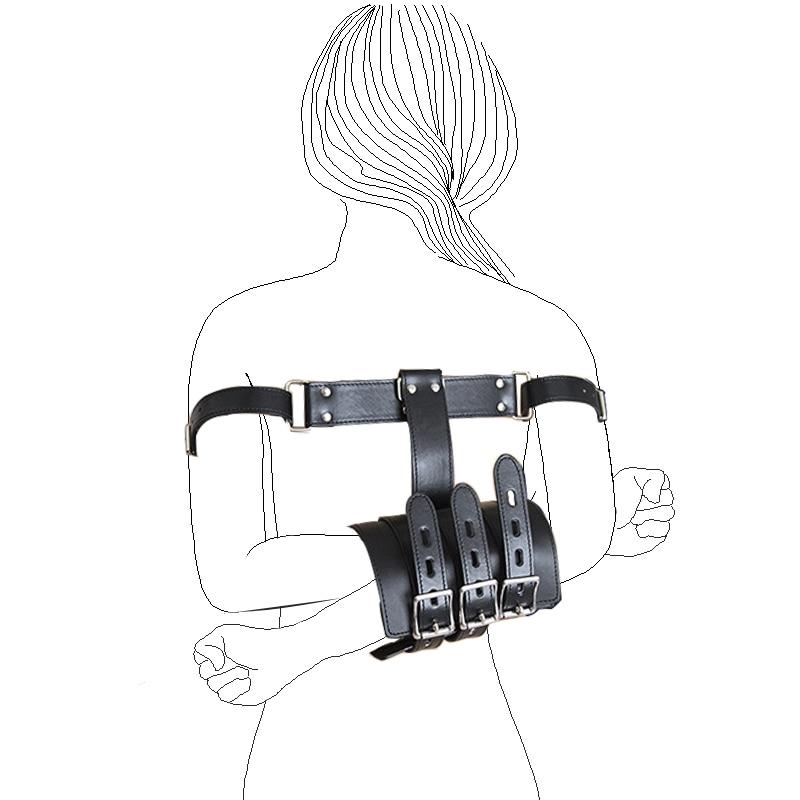 Restraint Armbinder Asylum Behind Back Submission Bondage Gloves Couple Toys