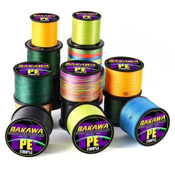 BAKAWA 300M to 1000M 8 Strands Super Strong 4 Braided Fishing Lines PE Multifilament Lines for Carp Fishing Wire Rope Cord Pesca 100m pe braided wire fishing line 4 strands 13 118lb japan multifilament carp fishing for fish wire rope cord