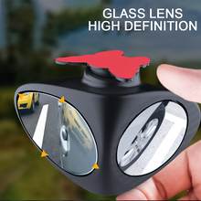 1 Piece Car Blind Spot Mirror 360 Degree Convex Rotatable 2 Side Automibile Exterior Rear View Parking Safety Accessories