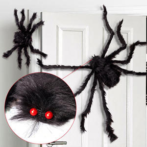 1Pc 305075cm Black Big Halloween Plush Spiders Kids Children Toy Plush Black Multicolour Style For Party Halloween Decoration