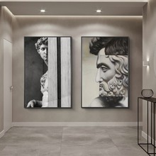Modern Statue David Canvas Painting Posters and Print Cuadros Wall Art for Living Room Home Decor (No Frame)
