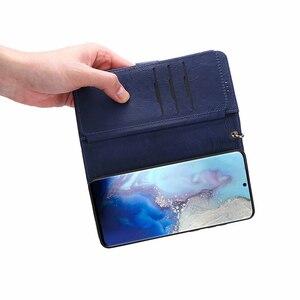 Image 5 - 지퍼 Magneti 지갑 케이스 삼성 S20 S20 플러스 S20 울트라 참고 10 10 + 9 8 S10 S9 S8 S7 가장자리 분리형 플립 가죽 케이스