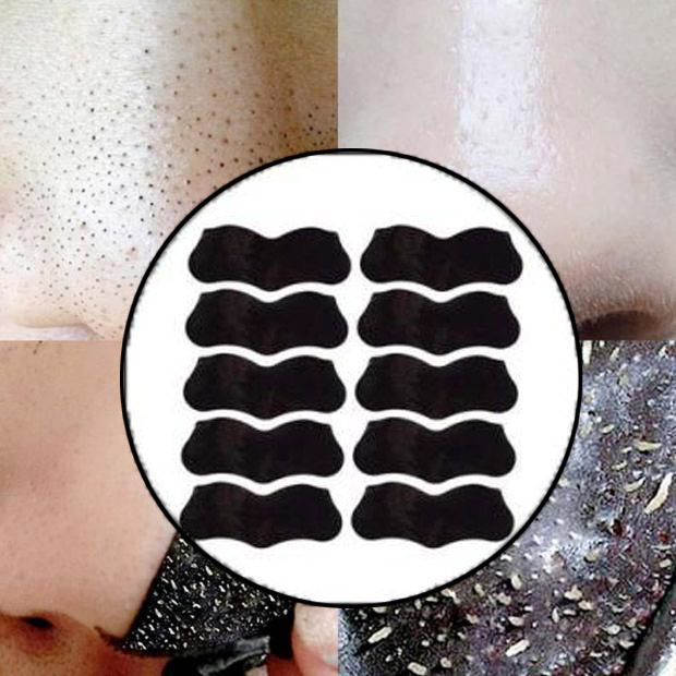 10 PCS Bamboo Charcoal Blackhead Remover Deep Nose Pig Mask Pore Cleasing Sticker Deep Charcoal Nose Clean Strip Strip Pore N3N3