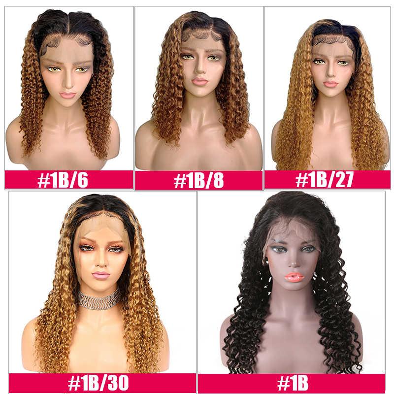 Lace Front Menselijk Haar Pruiken 130% / 150% /180% Dichtheid Blonde 1B/27 Braziliaanse Remy Pre Geplukt haarlijn Menselijk Haar Pruiken