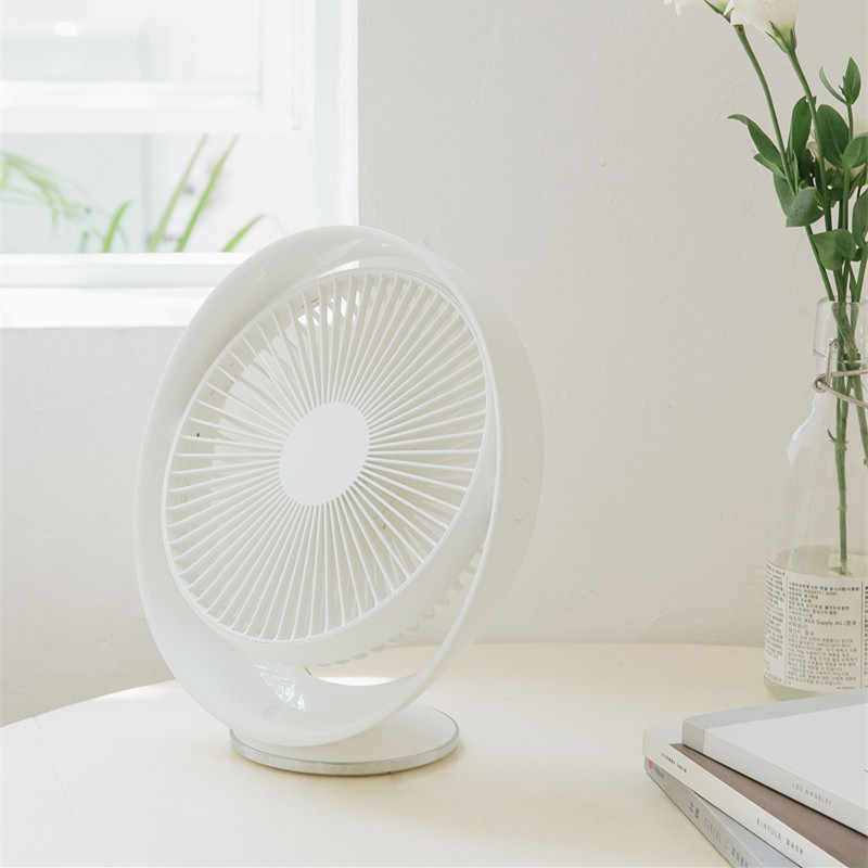 YOUPIN 3life 327 Desktop Fan Air Circulation Rechargeable Electric Fan Natural Wind USB Rechargeable 12 inches Angle Adjustable