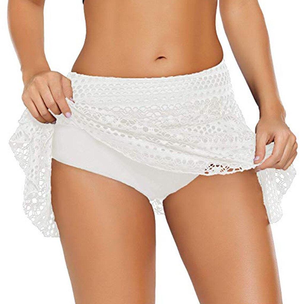 Lace Bikini Bottom Swimsuit Short Skirt
