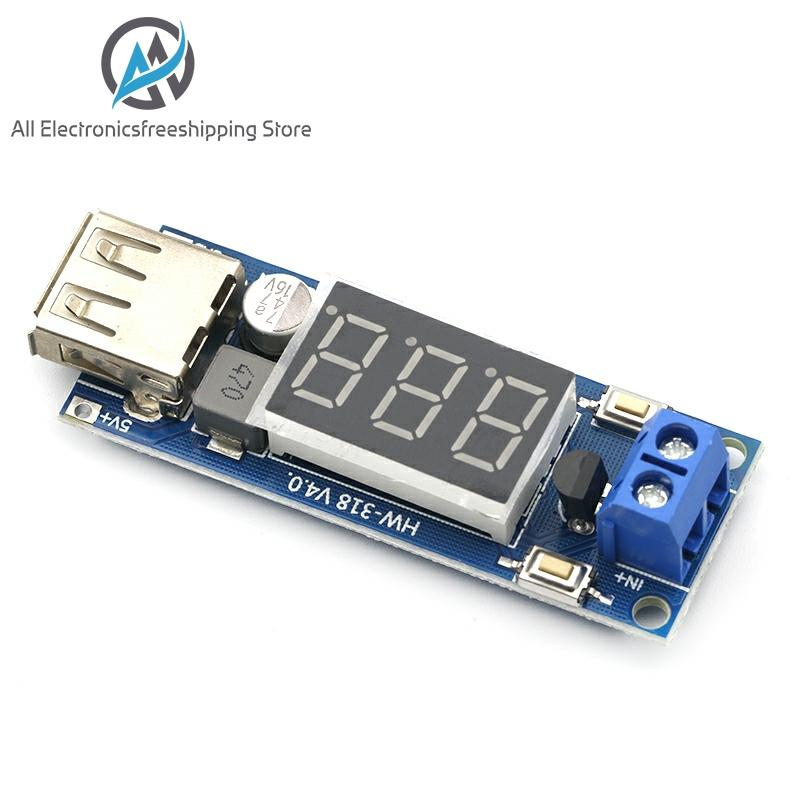 DC-DC Step Down Module Two-wire Voltmeter 5 V USB Charger Or Power Supply Input 4.5V-40V Output 5V/2A