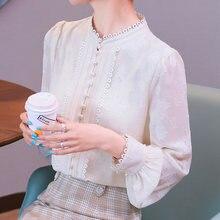 Корейские женские блузки рубашки с длинным рукавом женская блузка