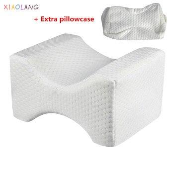 Almohada de espuma viscoelástica para modelado de piernas, almohada de embarazo, almohada de ciática para alivio del dolor articular en la espalda y la cadera, almohadas de apoyo para los muslos y las piernas para dormir