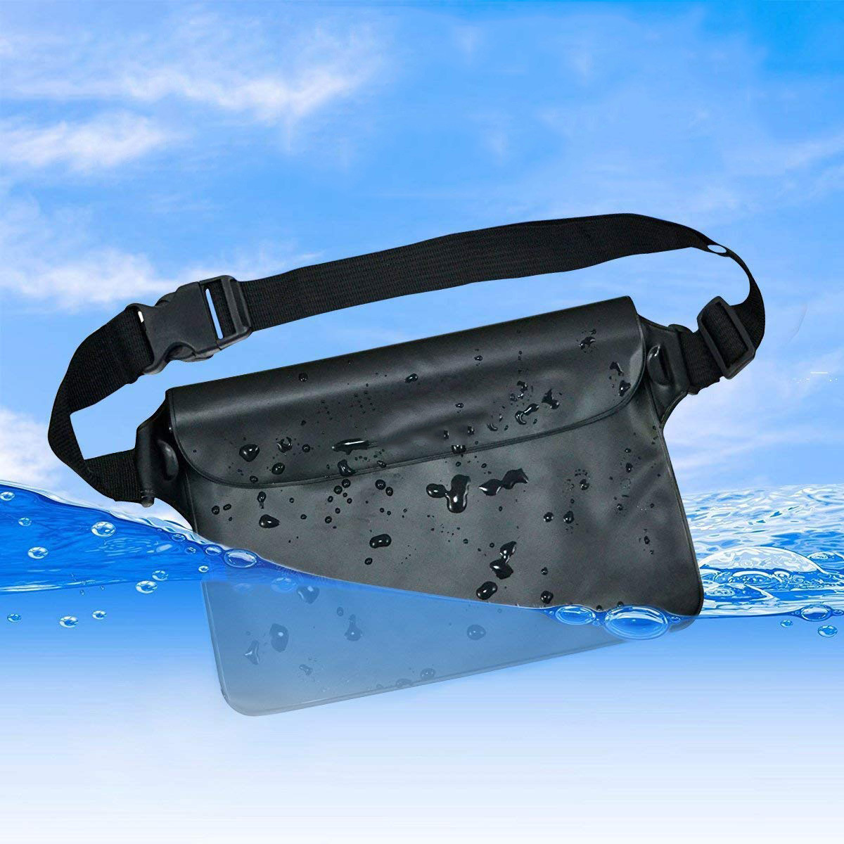 Three Sealing Diving Anti-Steal Bag PVC Beach Bag Swimming Drifting Debris Storage Bag Foreign Trade Waterproof Waist Bag