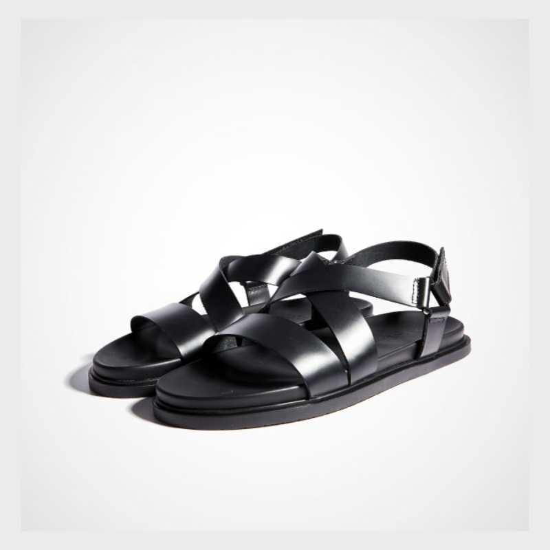 الرجال مشبك الصنادل أعلى جودة جلد طبيعي موضة صنادل أرضية المصارع عادية روما في الهواء الطلق الصنادل المفتوحة حذاء مزود بفتحة للأصابع