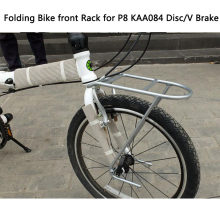 Bastidor de bicicleta dobrável de 20 polegadas, prateleira para drv, cesta de liga de alumínio, cabide kaa084, freio a disco universal de freio