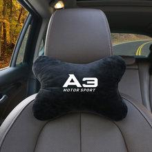 1 pçs flanela de algodão carro pescoço travesseiros ambos os lados único caso encosto de cabeça para audi a3 a4 a5 a6 a7 a8 b5 b6 b7 b8 c6 c7 c8 estilo do carro