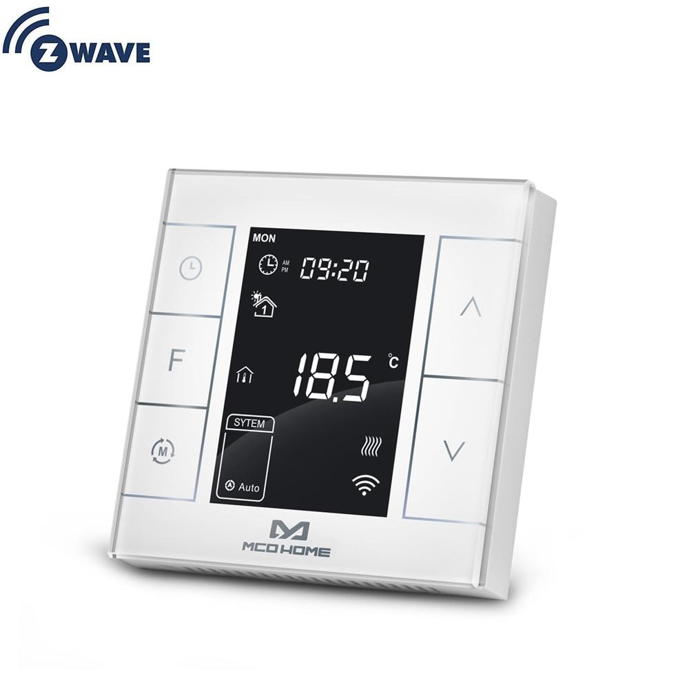 ZWave плюс воды/Электрический нагревательный термостат умный дом Z-Wave программируемый термостат встроенный Температура температуры и влажно...