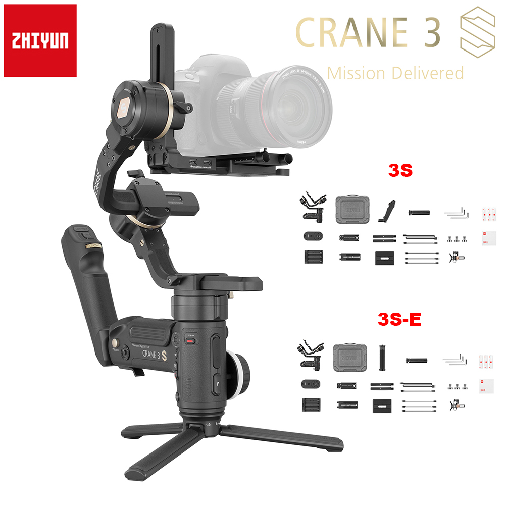 Zhiyun Crane 3S / 3S-E 3-Asix Handheld Gimbal Stabilizer 6.5Kg Maxload For RED Digital Cinema Camera Blackmagic Pocket 1DX FS FX