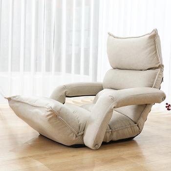 Podłoga składany leżak regulowany fotel rozkładany meble do salonu japoński fotel sypialny Sofa leżak tanie i dobre opinie DAMEDAI CN (pochodzenie) Nowoczesne As Details TA09 Lounger Japanese Szezlong meble do domu Tkaniny China home use floor folding
