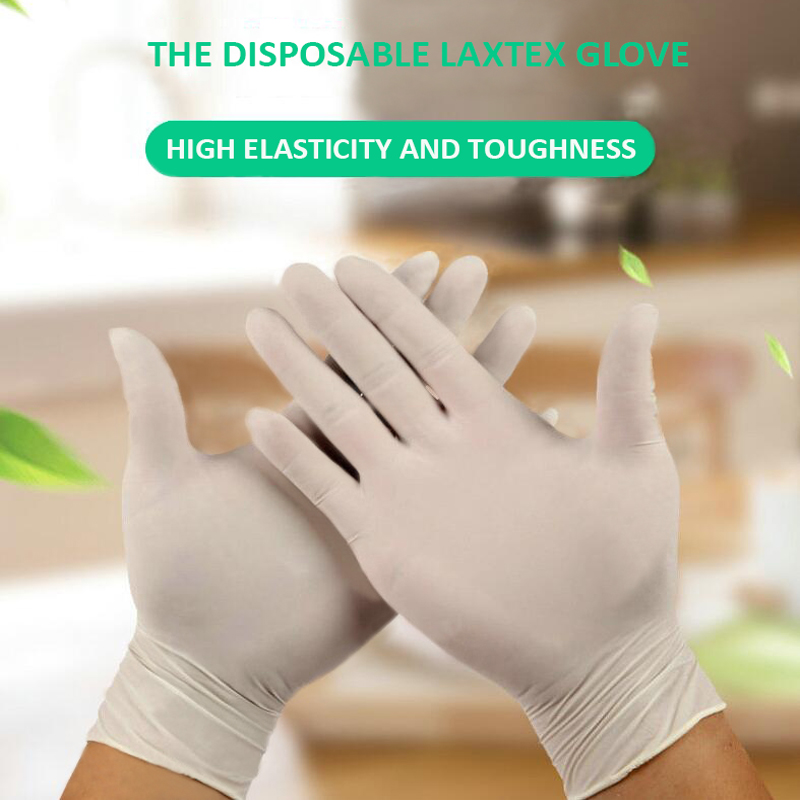 100 Pcs Thickness Disposable Glove Work Glove Cooking Gloves Kitchen Food Service Home Cleaning Gloves Safety Blue