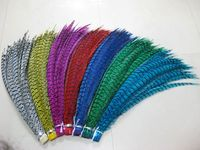 350PCS 80 90CM 30 35 Inch Zebra Pheasant tails Feather Natural Real Lady amherst Pheasant Feathers Carnival Backpieces Decorates