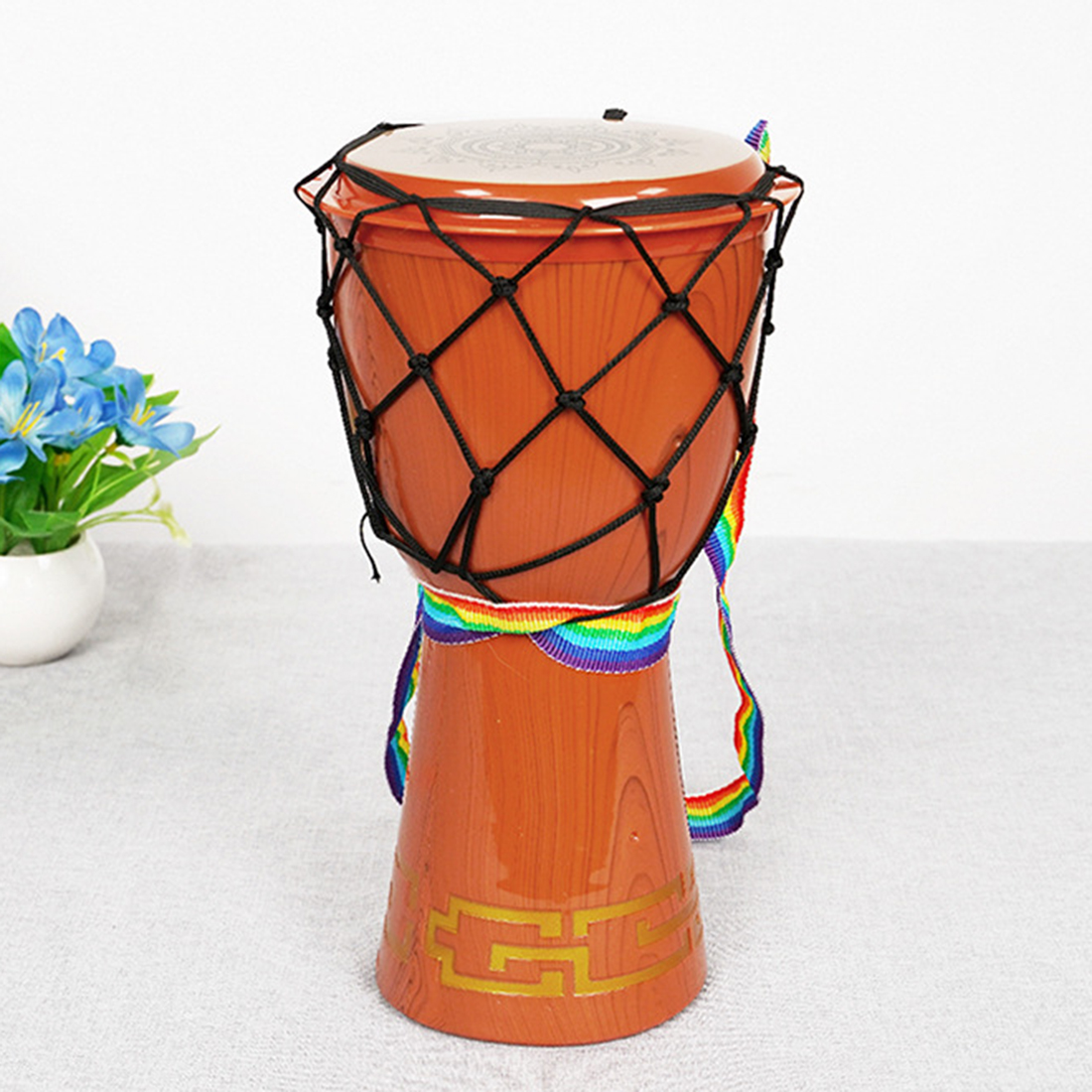 12 polegadas djembe simulação mão tambor cedo