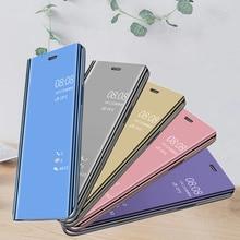 Fashion Mirror Flip Phone Cases For VIVO Y17 V9 Y85 V15 S1 PRO Y97 V11i Y81 83 67 75 66 Y65 V5 V7 IQOO NEO NEX Stand Case