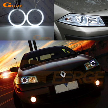 For RENAULT MEGANE 2 II 2006 2007 2008 2009 Facelift headlight Excellent Ultra bright ccfl angel eyes kit Halo Ring excellent ultra bright cob led angel eyes kit halo ring for renault megane 2 ii 2006 2007 2008 2009 facelift headlight