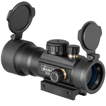 DIANA 3X44 Green Red Dot Sight Scope Tactical Optics Riflescope Fit 11/20mm rail Rifle Scopes for Hunting 5