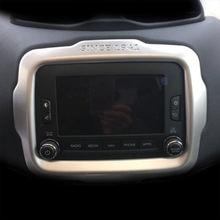 Матовая панель навигации из АБС пластика для jeep renegade 2015
