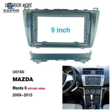 2 din 9 inch car radio Fascias for MAZDA 6 2009~2015 Dashboard Frame Installation dvd gps mp5 android Multimedia player image