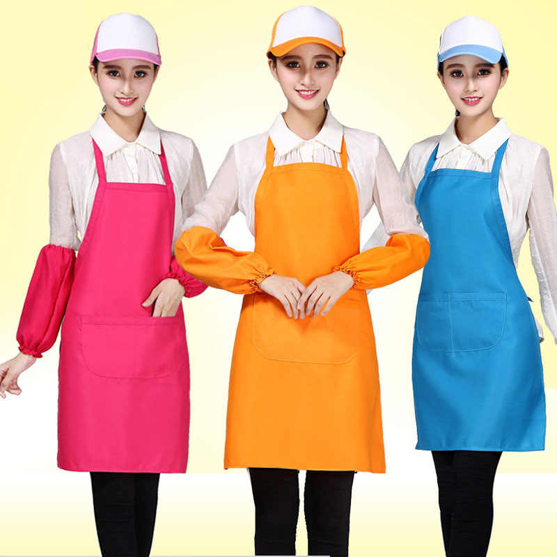 Custom Women's Apron Korean Kitchen Apron Antifouling Barbecue Baking Cleaning Coffee Shop Barber Shop Custom Pattern  Wholesale