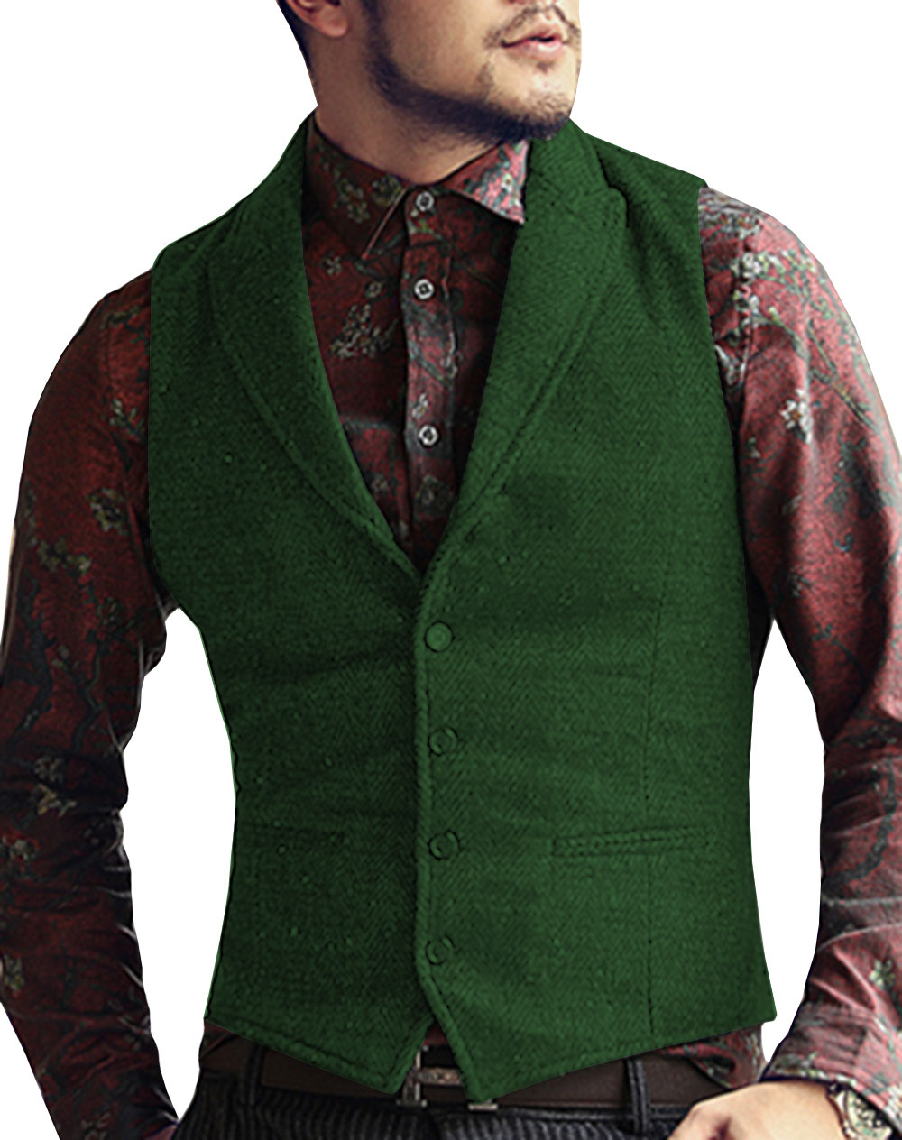 Mens-Suit-Vest-Lapel-V-Neck-Wool-Herringbone-Casual-Formal-Business-Vest-Waistcoat-Groomman-For-Wedding (1)