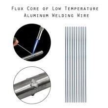 1,6mm 1/10/20/50 шт низкая Температура Алюминий сварочная проволока для сварки Алюминиевые проводы припой стержень сварки провод с сердечником стержни для припоя