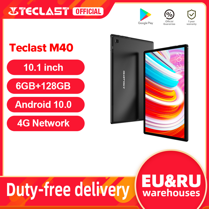 Teclast M40 Android 10 Tablet 1920X1200 10.1 Inch 4G Netwerk 6Gb Ram 128Gb Rom Unisoc t618 Octa Core Tabletten Pc Dual Wifi Type C Android tablets    -