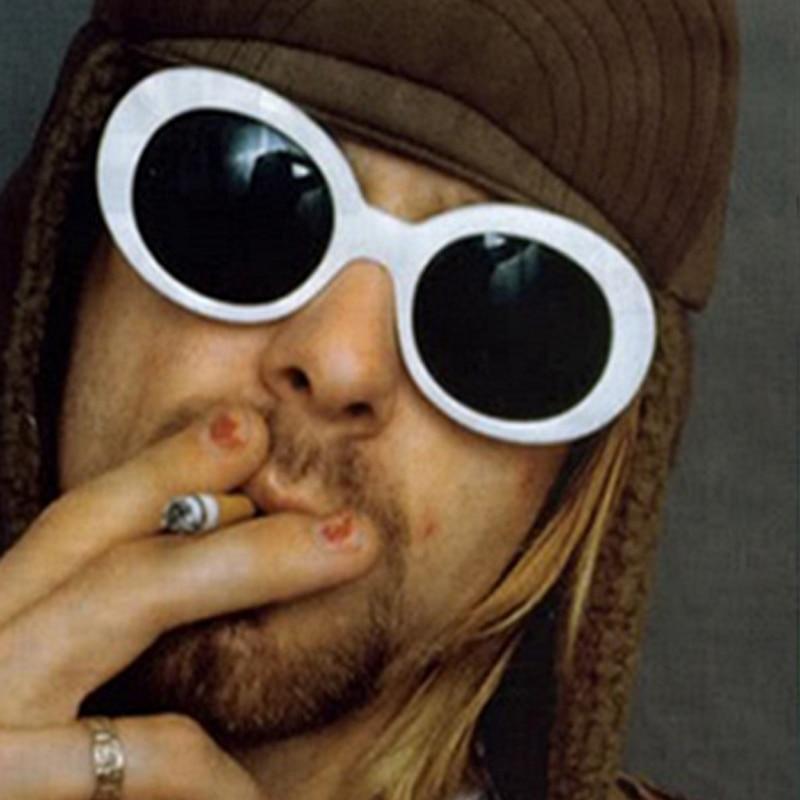 New Women Men Kurt Cobain Mirrored Glasses Sunglasses Clout Goggles Oval