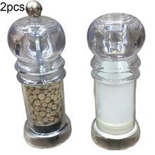 2 шт., ручная мельница для соли, специй, перца, приправ, мельница для бутылок, измельчитель, сосуд для приправ, контейнер для специй, домашний кухонный инструмент, nbice