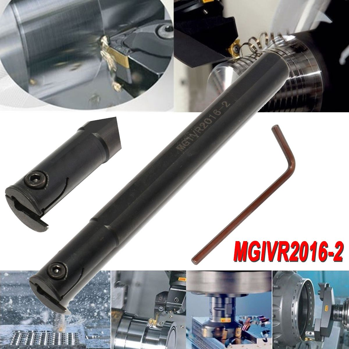 MGIVR2016-2 Partting Grooving Cut-Off Tool Holder For 2mm MGMN200 CNC Lathe