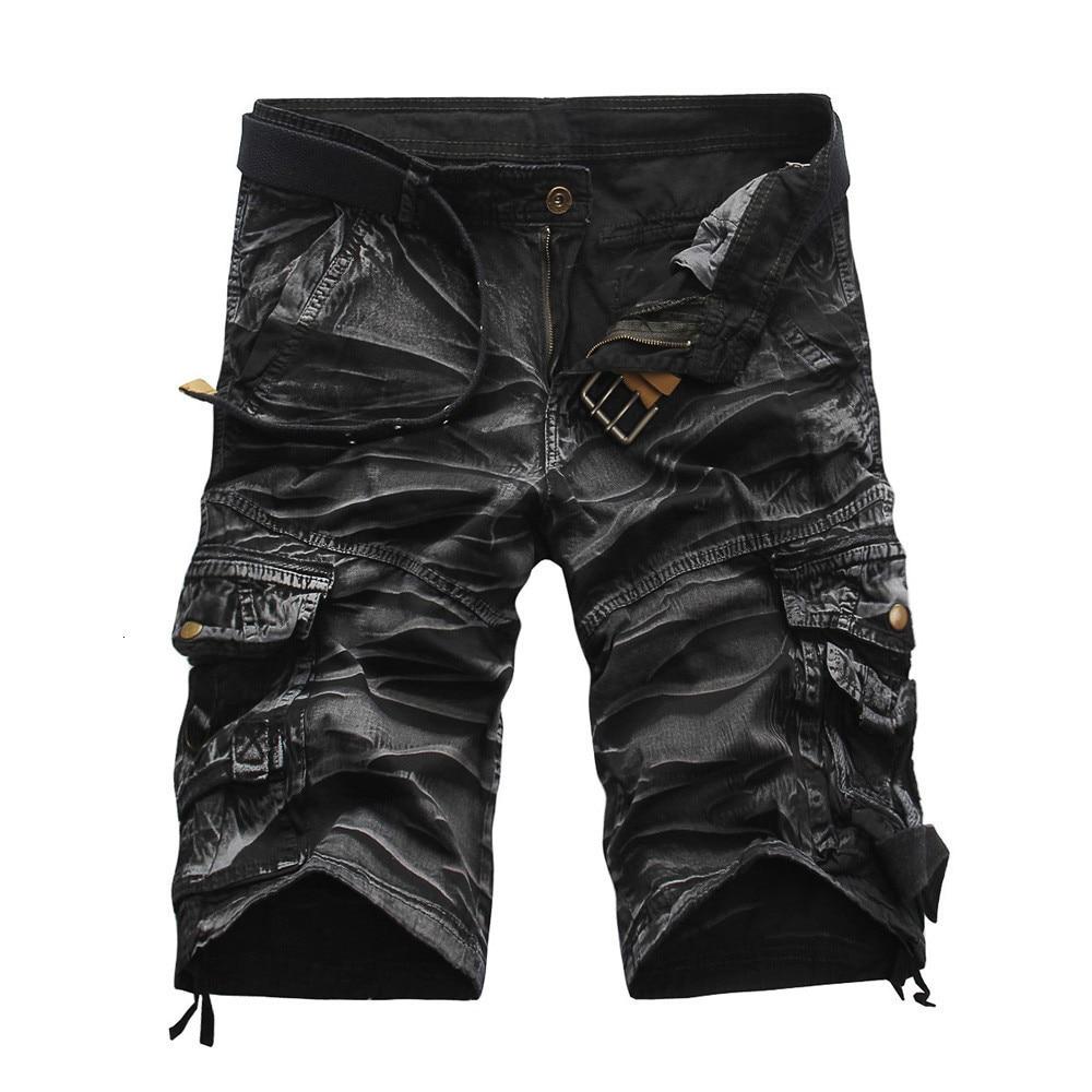 Men Shorts Cotton Fashion Mens Casual Pocket Beach Work Casual Short Trouser Pants Short Masculino Basquete Streetwear