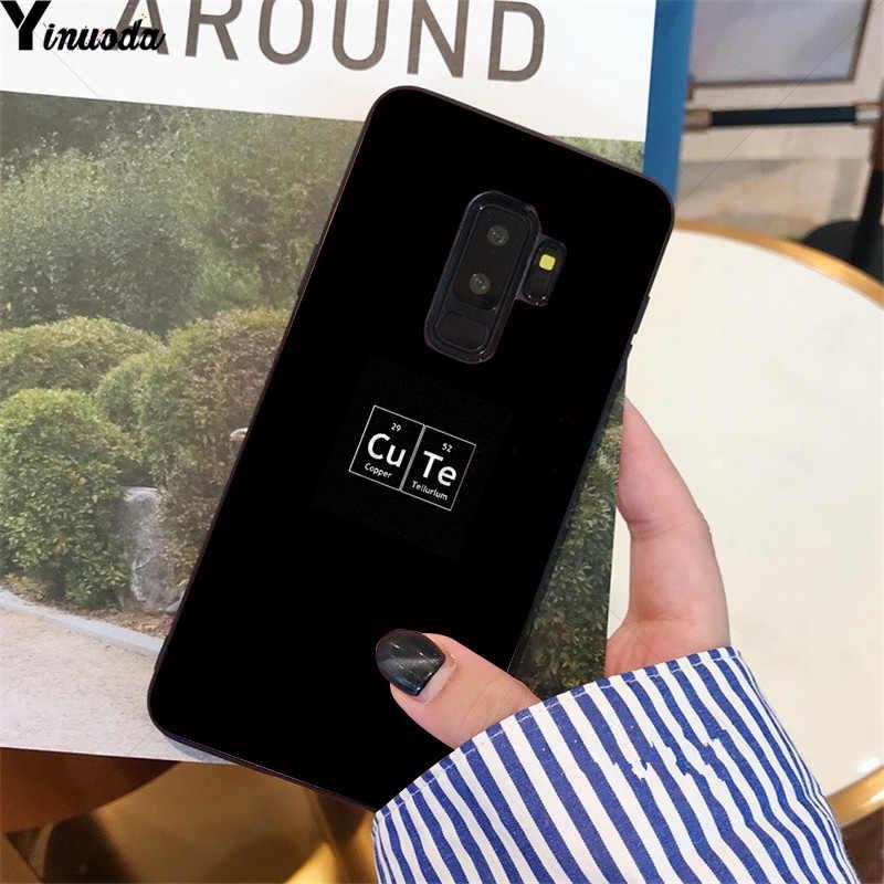 Yinuoda Đen Tối Giản Văn Bản Nhiều Màu Sắc Dễ Thương Ốp Lưng Điện Thoại Samsung S9 S9 Plus S5 S6 S6edge S6plus S7 S7edge S8 s8plus