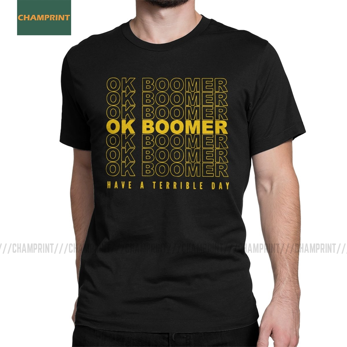 Men's OK Boomer T Shirt Quote Generation Z Okay Meme 100% Cotton Tops Leisure Short Sleeve Tee Shirt Printed T-Shirts image