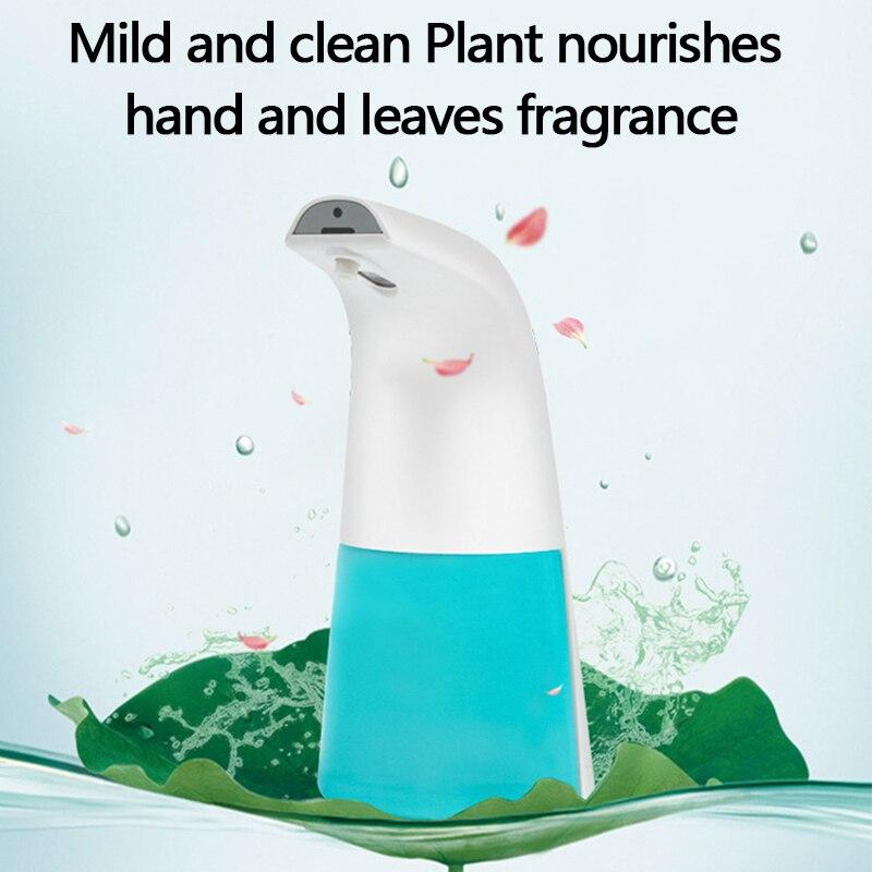 H4831a197ced249fd8dda59217e094a31z 250ml Automatic Induction Soap Dispenser Free Pressing Infrared Sensing Intelligent Soap Dispenser for Kitchen/Bathroom