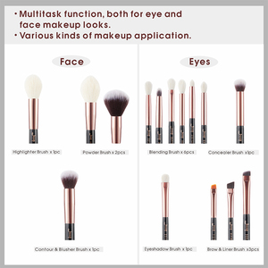 Image 4 - Jessup Beauty 15pcs Cosmetics Makeup Brushes Set Dropshipping pinceaux maquillage Foundation Eyeshadow Blending Brushes T162