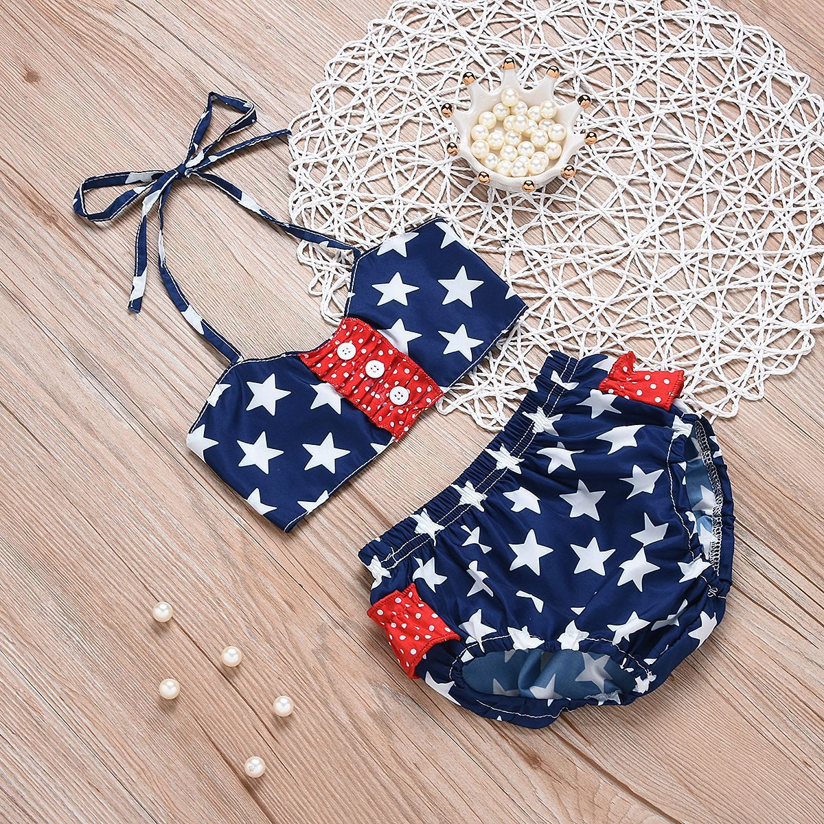 2019 CHILDREN'S Swimsuit Star Dotted Bikini CHILDREN'S Swimsuit Set
