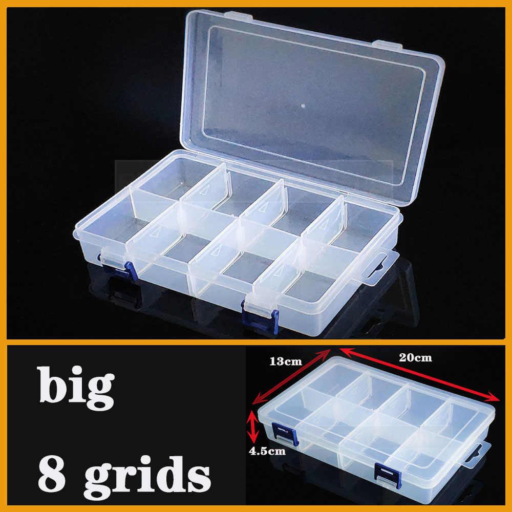 容器プラスチックボックスオーガナイザー実用的な調節可能なコンパートメントジュエリーイヤリングビーズネジホルダーケースディスプレイケース収納ボックス