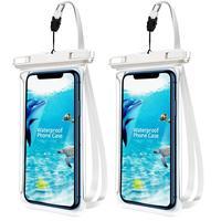 ANMONE-funda impermeable para teléfono, bolsa transparente con vista completa para natación, buceo, senderismo, a prueba de agua, 2 uds.