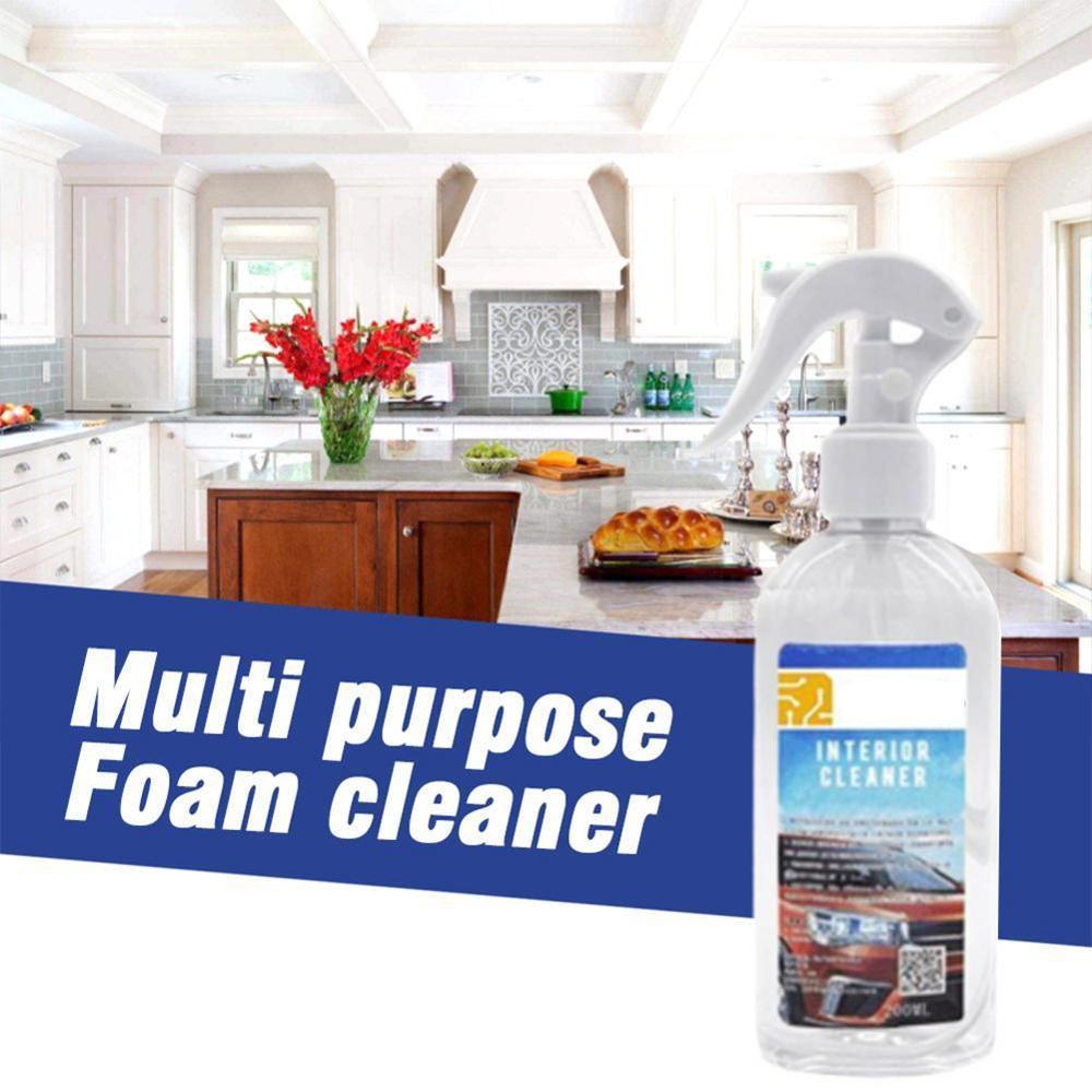 200ml Multi-functional Car Interior Agent Universal Auto Window Door Chair Cleaning Retreading Agent Foam Cleaner