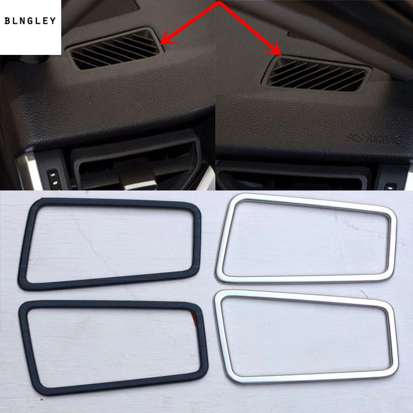 2pcs lot car sticker stainless steel High position air conditioning outlet decoration cover for 2019 2020 Toyota RAV4 RAV 4 MK5