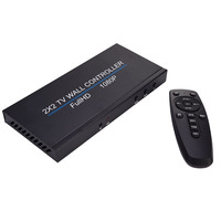 4 Channel TV Video Wall Controller 2x2 4x1 Wall Processor for HDMI 1080p TV Image Splicing Controller Audio Vedio Supply