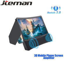 3D Phone Screen Amplifier Mobile Portable Universal HD 10 inch Screen Magnifier For Cell Phone Screen Expander Magnifying